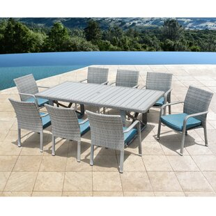 Rosecliff Heights Weber 9 Piece Patio Dining Set with Cushions