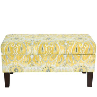 Savings Fernand Cotton Upholstered Storage Bench By Mistana