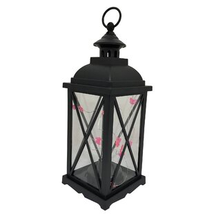 Read Reviews Kaneville Battery-Operated 1-Light LED Outdoor Hanging Lantern By Charlton Home