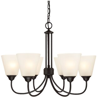 Galveston 6-Light Shaded Chandelier by Hardware House