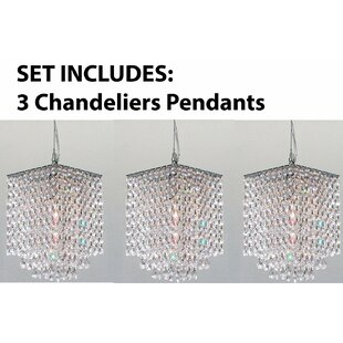 Huddle 3-Light Crystal Pendant (Set of 3) by Orren Ellis