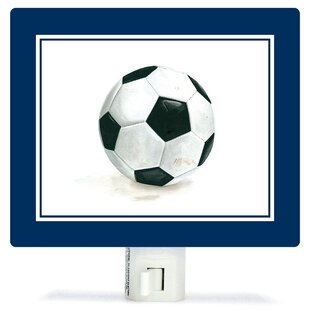 Oopsy Daisy Non-Personalized Sports and Games Soccer Ball Canvas Night Light