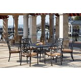 Batista 7 Piece Metal Frame Dining Set with Cushions