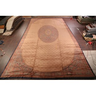 Marita Aubusson Savonnerie French Oriental Hand-Knotted Wool Brown/Red Area Rug by Bloomsbury Market