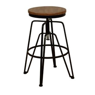 Garey Solid Wood Adjustable Height Bar Stool by Williston Forge