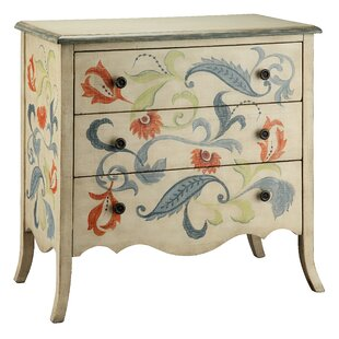 Painted Treasures 3 Drawer Accent Chest by Stein World
