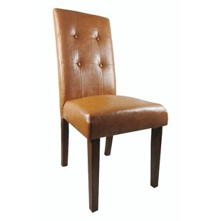 NOYA USA Classic Genuine Leather Upholstered Dining Chair (Set of 2)
