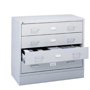 Savings Four-Drawer A/V Microform Storage Cabinet BySafco Products Company