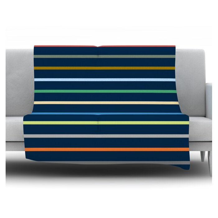 Kess InHouse Trebam Tanak Navy Blue 26 x 26 Square Floor Pillow