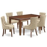 Stults 7 Piece Solid Wood Dining Set by Winston Porter