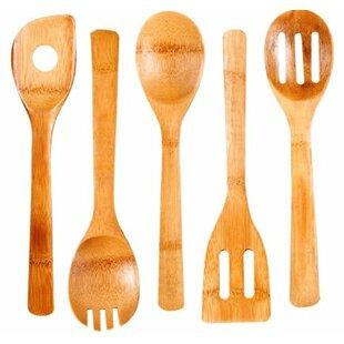 5 Piece Bamboo Kitchen Tool Set