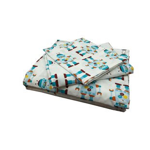 Mukul Robot 220 Thread Count 100% Cotton Sheet Set ByHarriet Bee