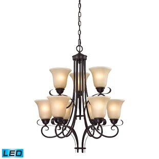 Briana 9-Light Shaded Chandelier by Fleur De Lis Living