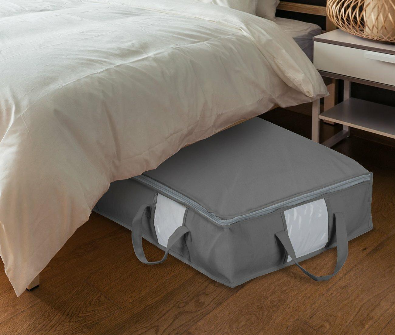 Rebrilliant Foldable Fabric Underbed Storage Bag Reviews Wayfair