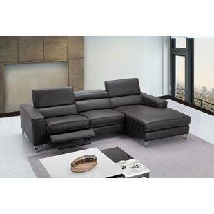 Amazing Carrolltown Leather Reclining Sectional Uwap Interior Chair Design Uwaporg