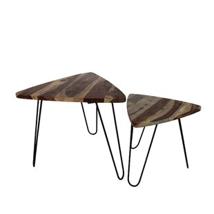 Union Rustic Cacho 2 Piece Coffee Table Set