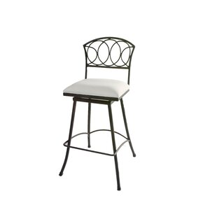 Chau Iron 30 Swivel Bar Stool Fleur De Lis Living