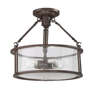 Herrera 3-Light Semi Flush Mount by Breakwater Bay