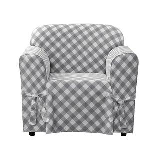 Richard Skirted Armchair SlipcoverSlipcovers   Joss   Main. Gray Armchair Slipcover. Home Design Ideas