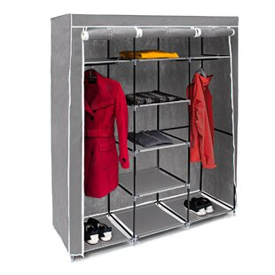 Berns 148cm Wide Portable Wardrobe By Rebrilliant