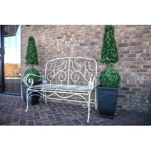 Stephen Distressed Metal Garden Bench