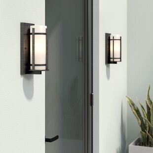Best Price Millbourne 1-Light Outdoor Sconce By Latitude Run