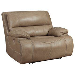 Alvey Wide Seat Leather Power Recliner by Red Barrel Studio SKU:BA681875 Shop