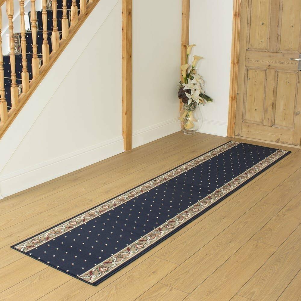 Barnsley Tufted Blue Hallway Runner Rug