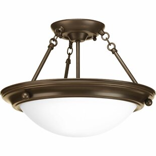Tod 2-Light Metal Semi-Flush Mount by Red Barrel Studio