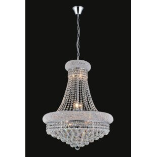 Rosdorf Park Andres 14-Light Crystal Chandelier