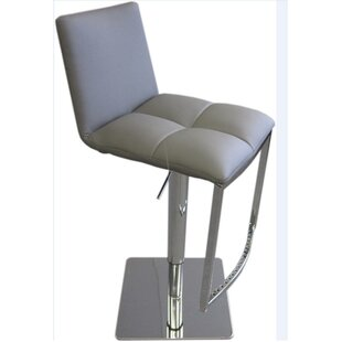 Jaycee Adjustable Height Swivel Bar Stool by Brayden Studio