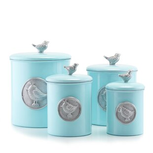 Lauren Bluebird 4 Piece Kitchen Canister Set