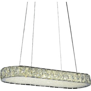 Milan LED Light Crystal Chandelier