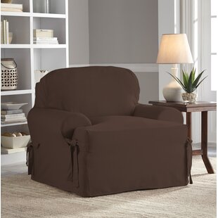 Red Barrel Studio Relaxed Fit Duck Furniture T-Cushion 3 Piece Slipcover Set