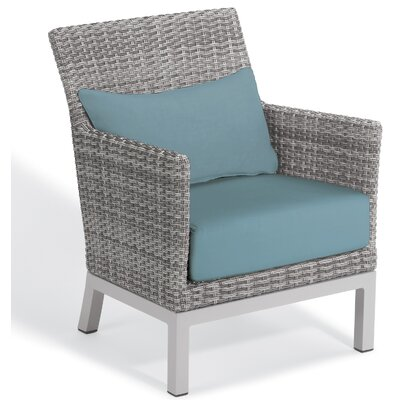 Brayden Studio Saleem Club Patio Chair with Cushions Color: Ice Blue