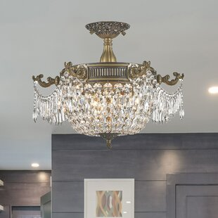 Reimer 3-Light Semi Flush Mount by Astoria Grand