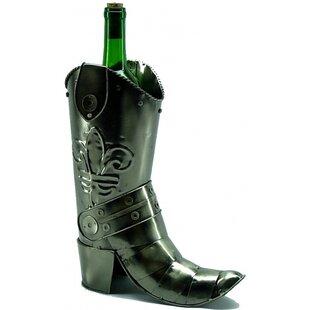 Cowboy Boot 1 Bottle Tabletop Wine Rack b..