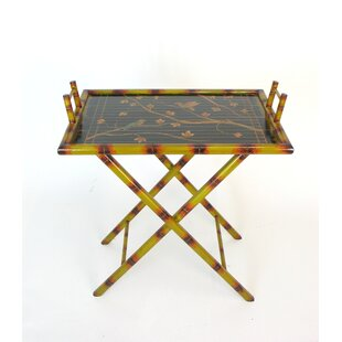 Aguayo Hand Painted Bamboo Serving Table Tray