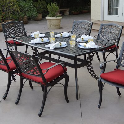 Appleby 7 Piece Dining Set With Cushions by Astoria Grand No Copoun