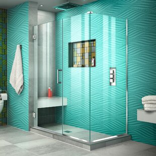 Unidoor Plus 50 x 72 Hinged Frameless Shower Door with Clear Max Technology by DreamLine