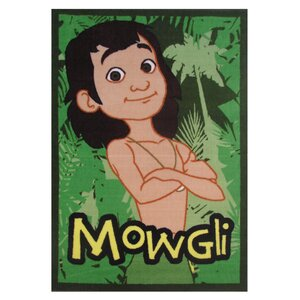 The Jungle Book Mowgli Green Area Rug