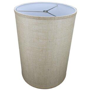 12 Burlap Drum Lamp Shade