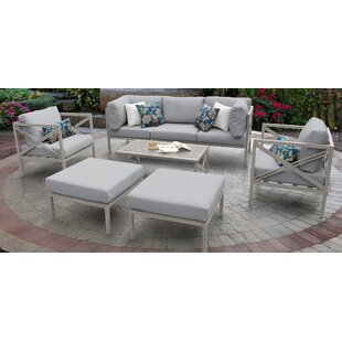 TK Classics Carlisle 8 Piece Sofa Set with Cushions