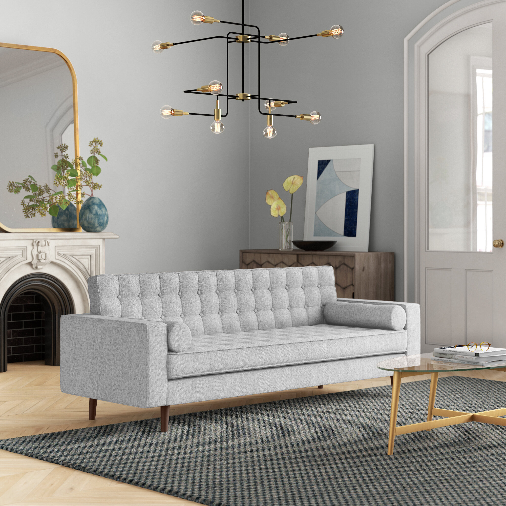 Foundstone Collins 85 Square Arm Sofa