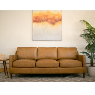 Where buy  Deirdre Leather Sofa by Corrigan Studio Reviews (2019) & Buyer's Guide