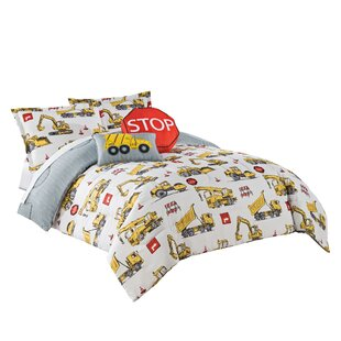 Under Construction Reversible Comforter Set