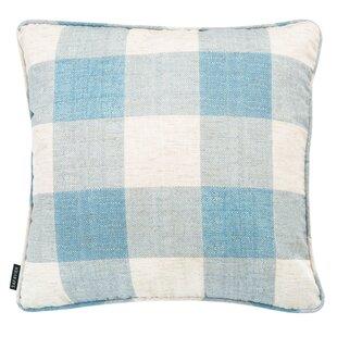 Blue Gingham Pillow Wayfair