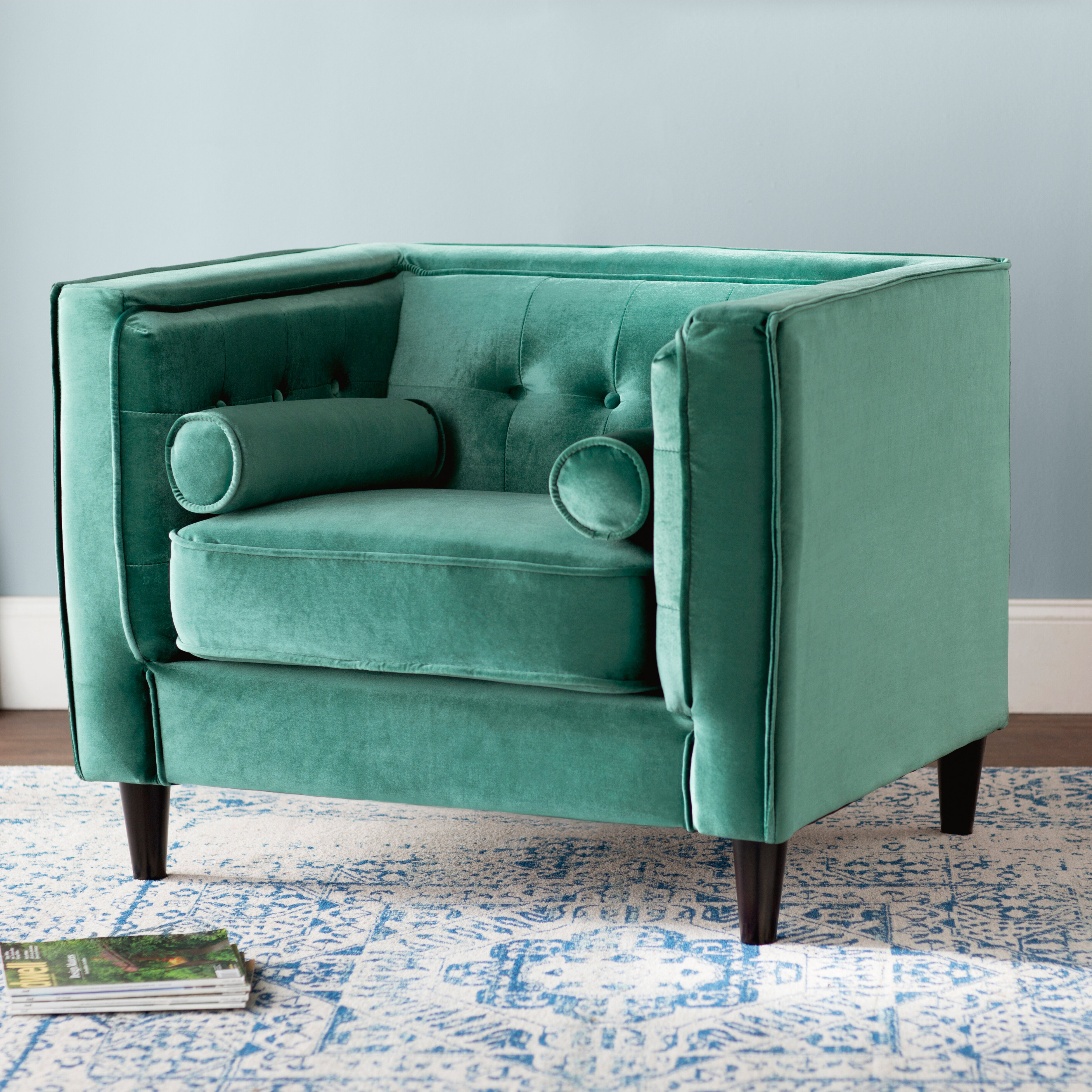 Willa Arlo Interiors Roberta Velvet Club Chair & Reviews | Wayfair