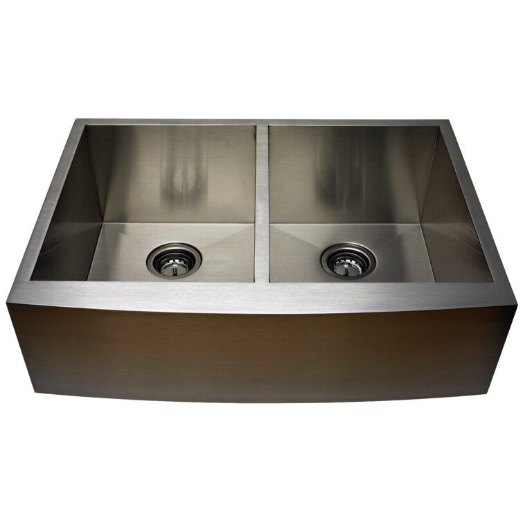 Alpha International 36 L X 22 W Undermount Kitchen Sink Reviews Wayfair