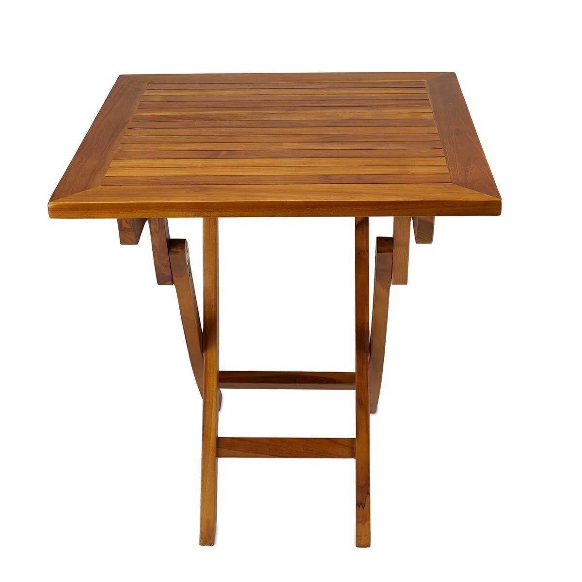 Ala Teak Wood Garden Yard 27 Square Bistro Table
